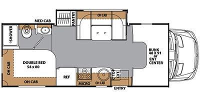 floorplan. Coachmen Prism 2150LE 2013