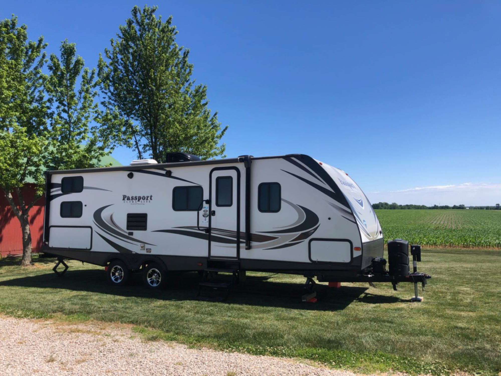 Setup at a rental site.. Keystone Passport 2018