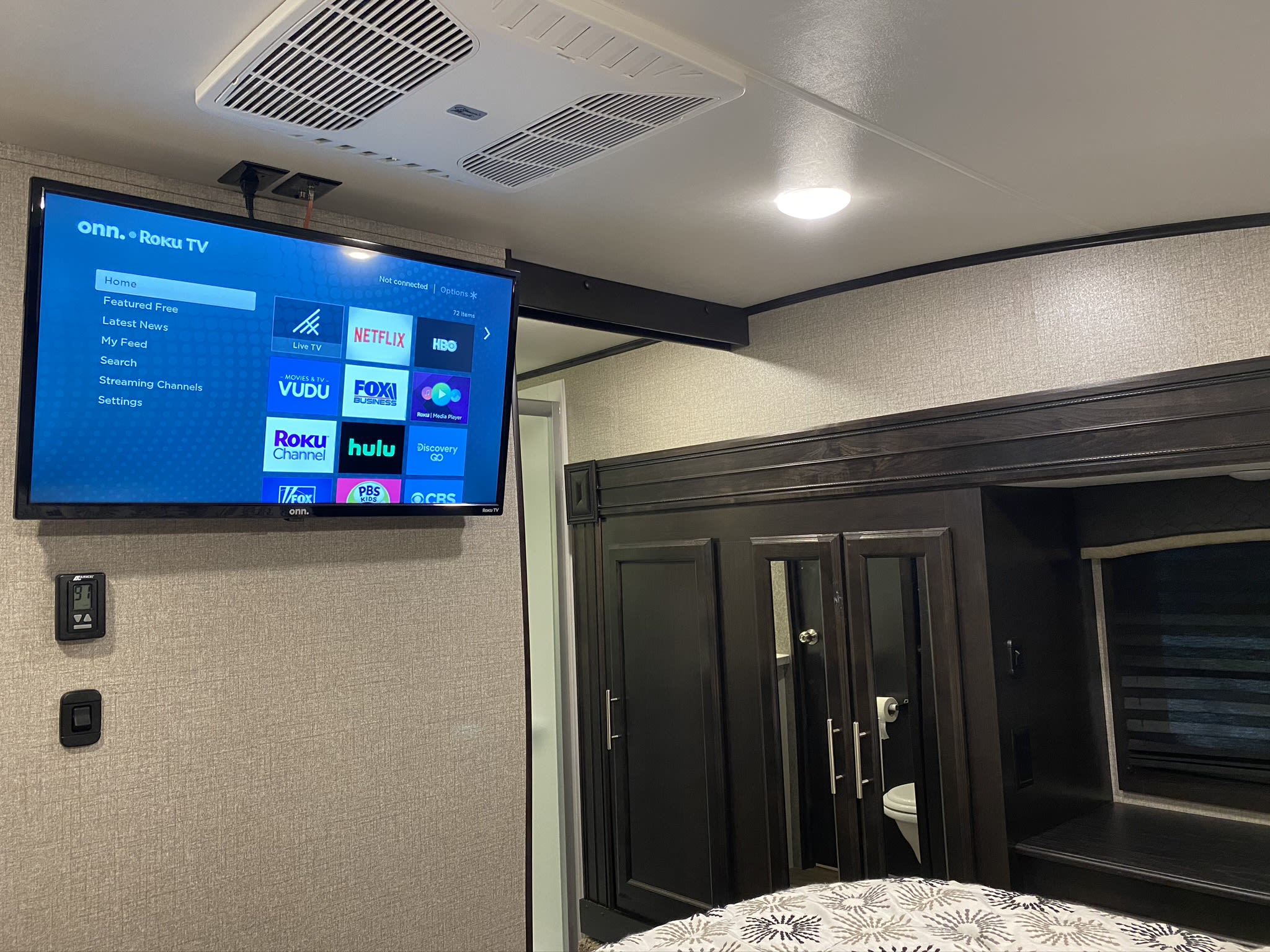 Bedroom TV. Jayco Eagle 2020