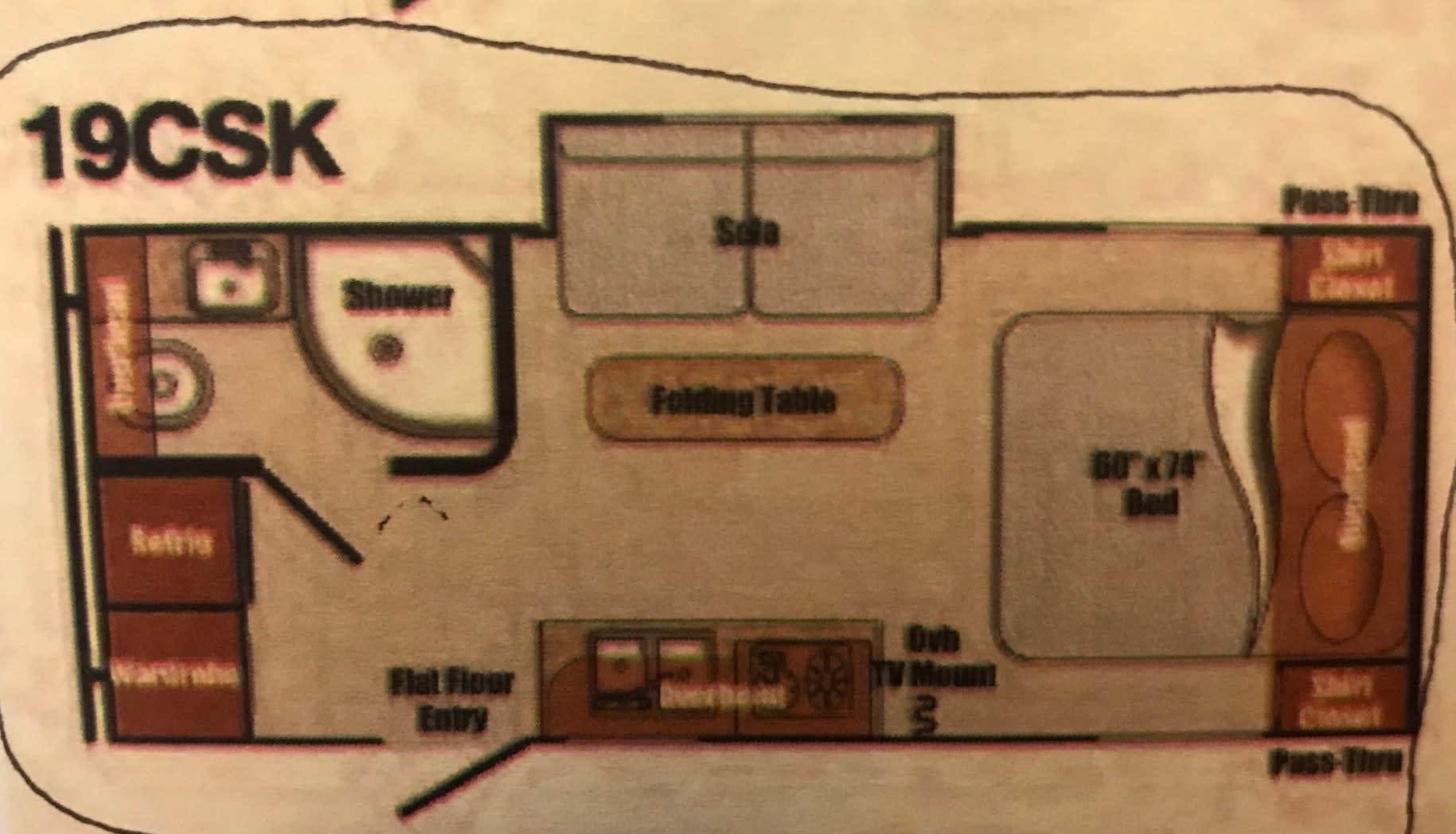 Floor Plan. Gulf Stream Vista Cruiser 2020