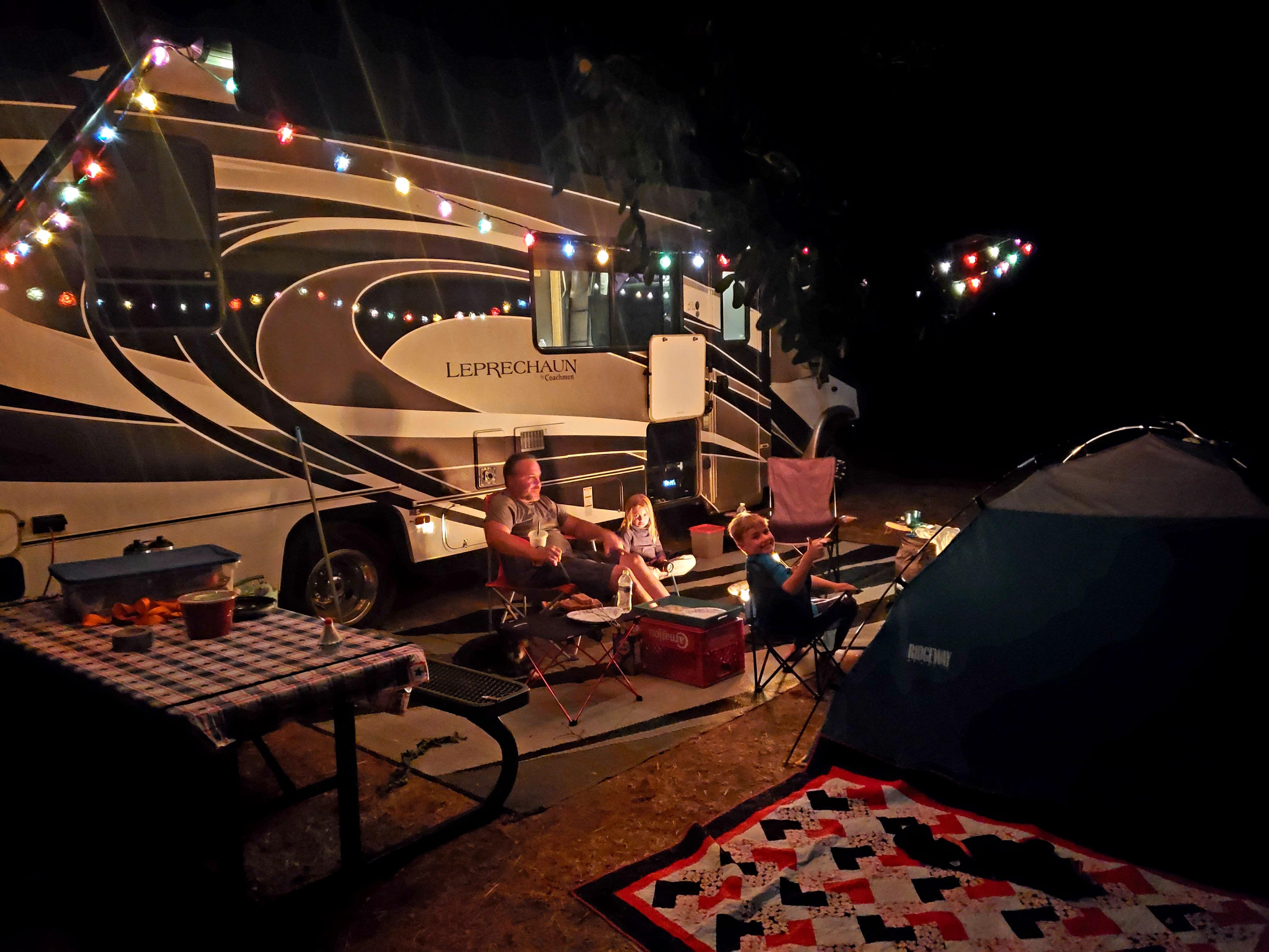 Lights provided for outdoor entertainment. Coachmen Leprechaun 2018