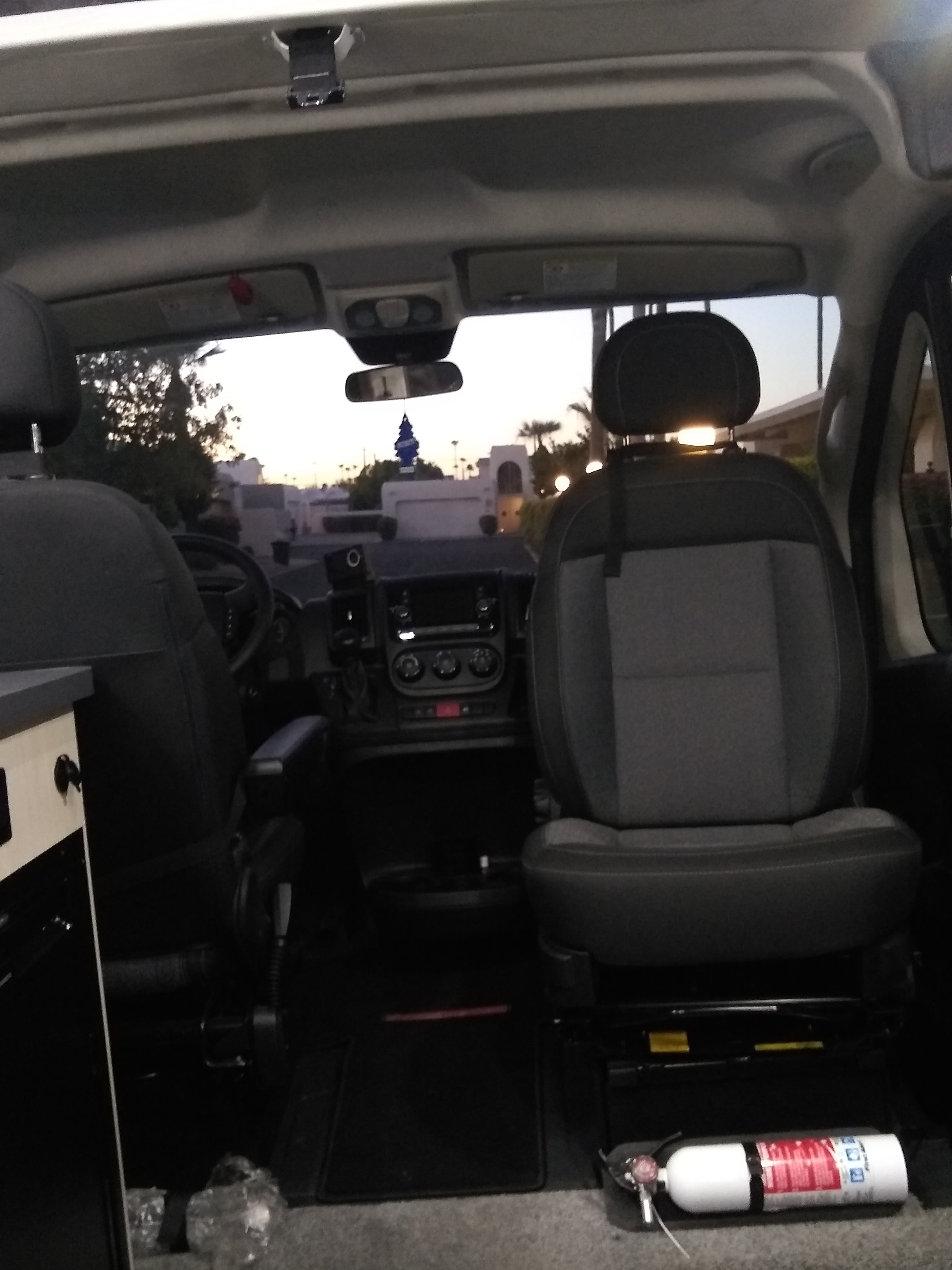 Front seats swivel to face the main living space. Pleasure Way Tofino 2020