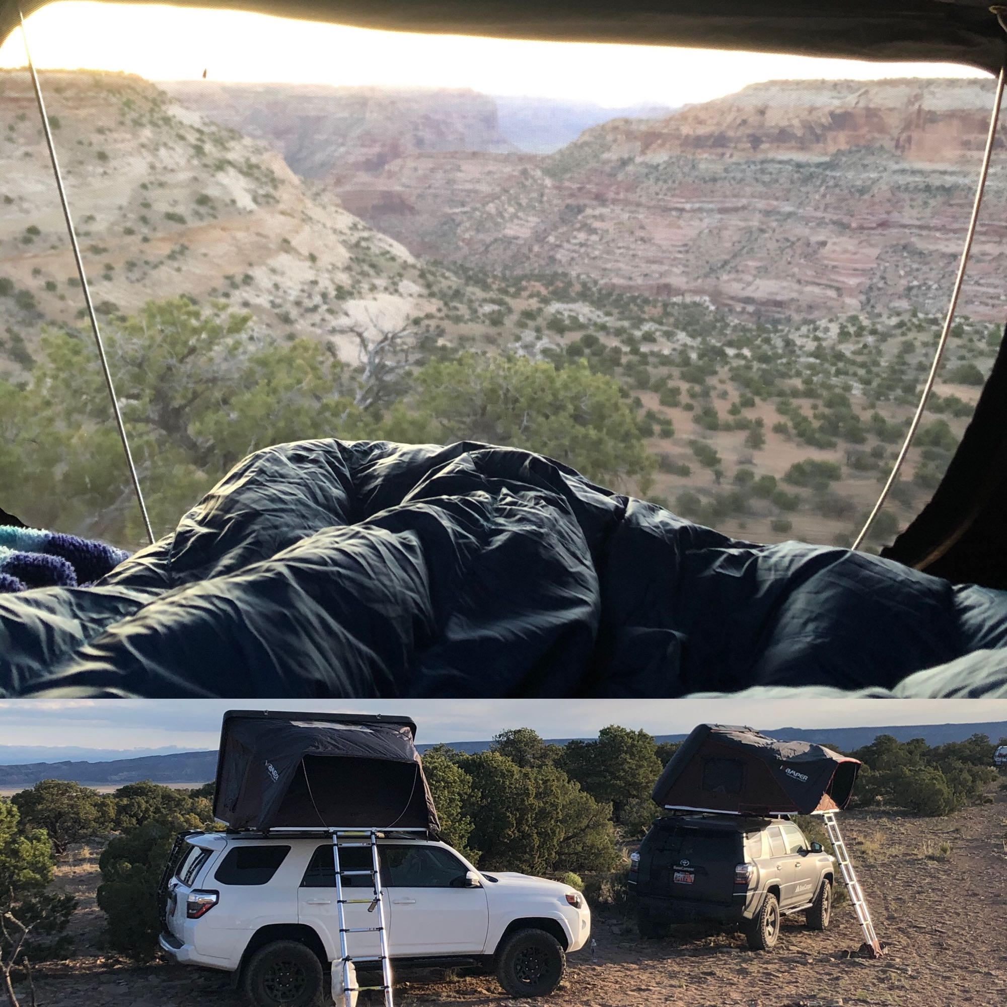roof top tent views. Toyota 4 Runner 2019