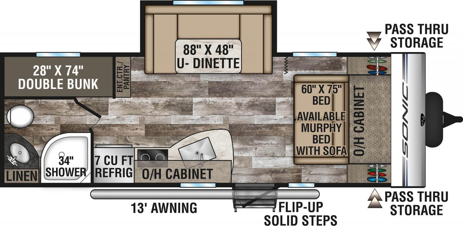 Floor plan. Venture Rv Sonic 2019