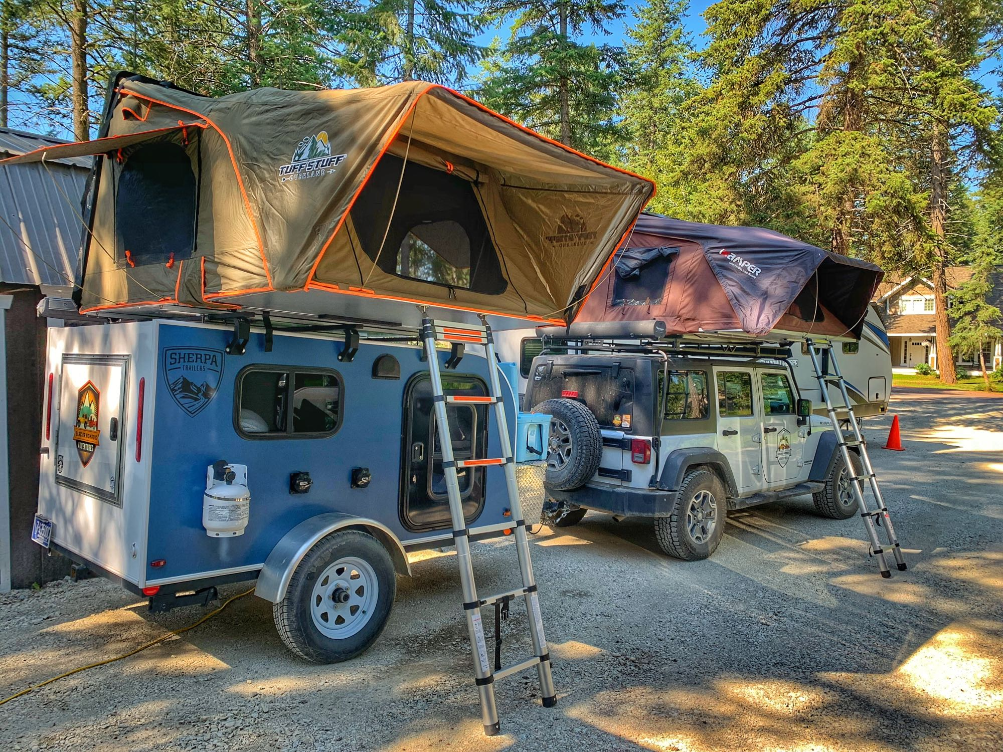 Roof Top Tent for additional sleeping room.. Camper Trailer Adventure (X2) 2018