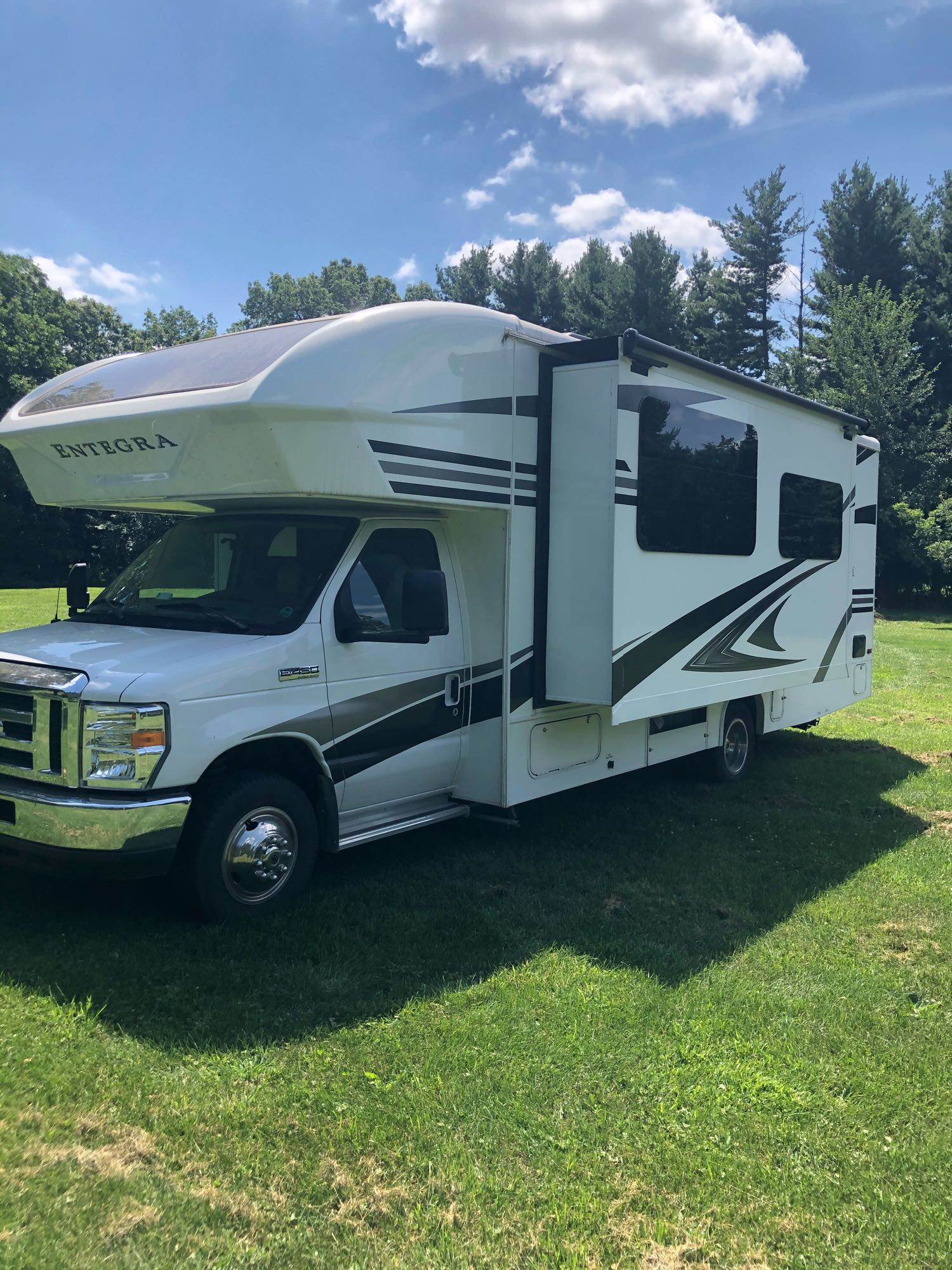 Main room slide outs creates very spacious living. Entegra Coach Other 2019