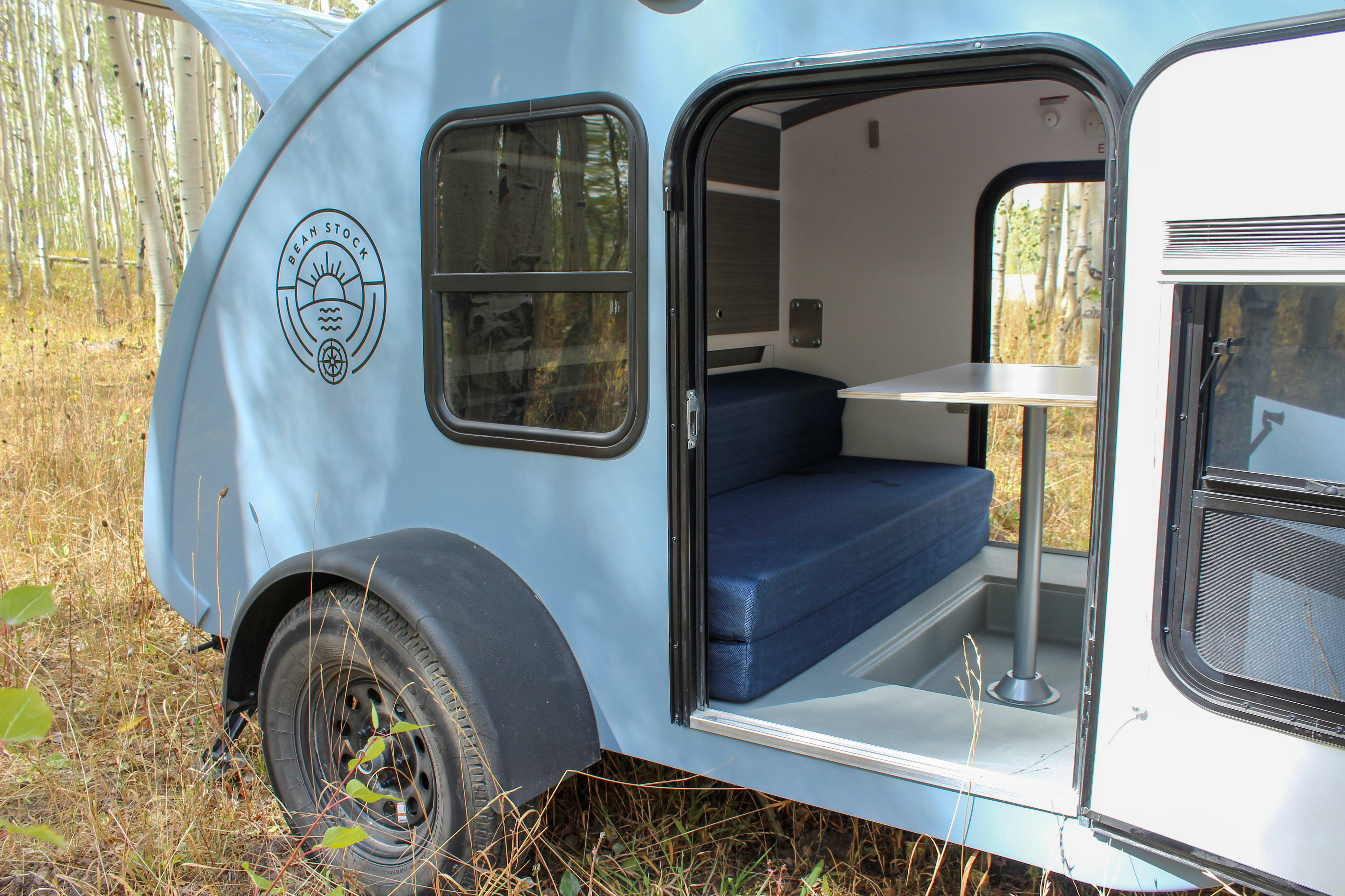 Built In Table and Couch Configuration. Bean Trailer Bean Stock 2020
