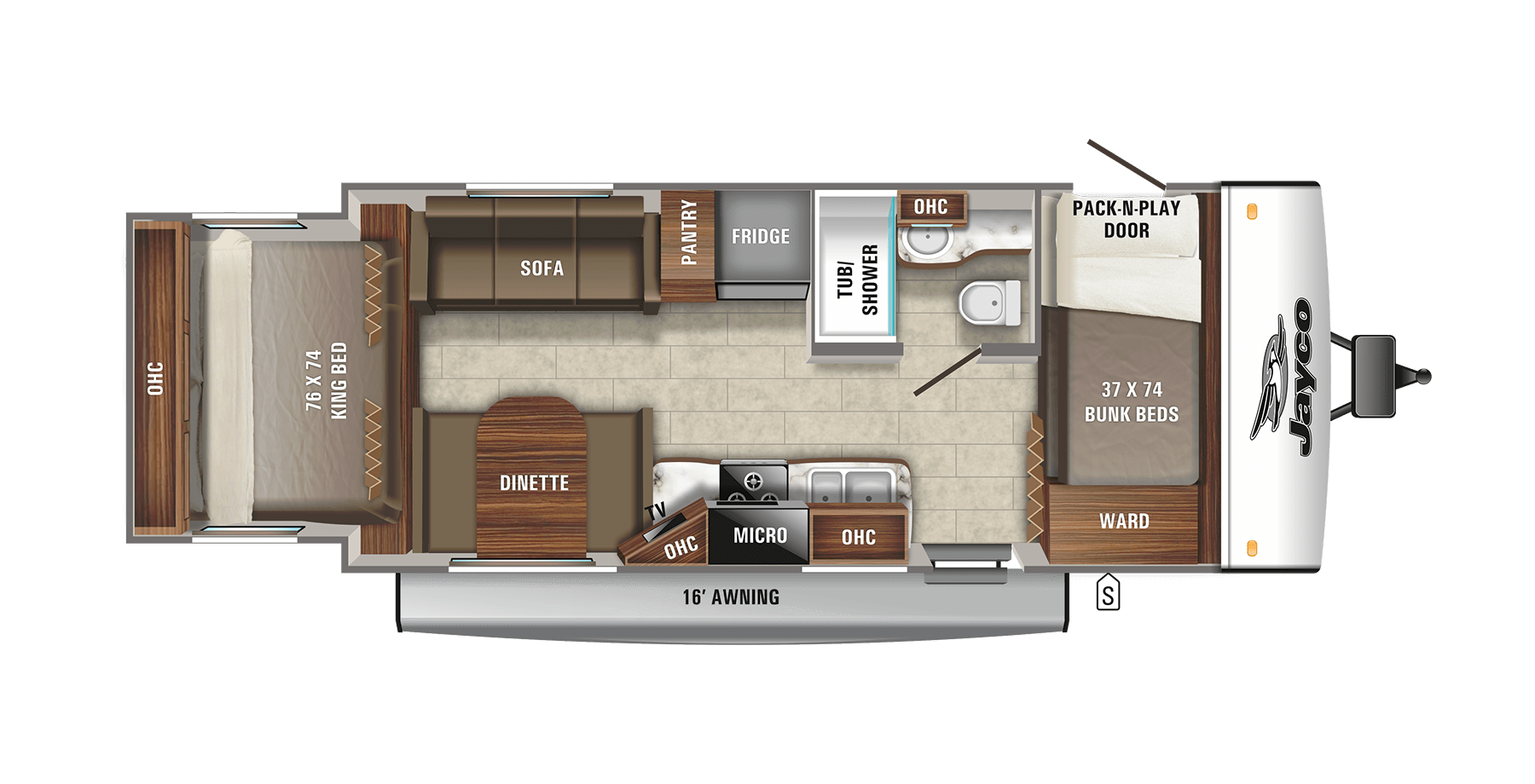 Floorplan. Jayco Jay Feather Select 2011