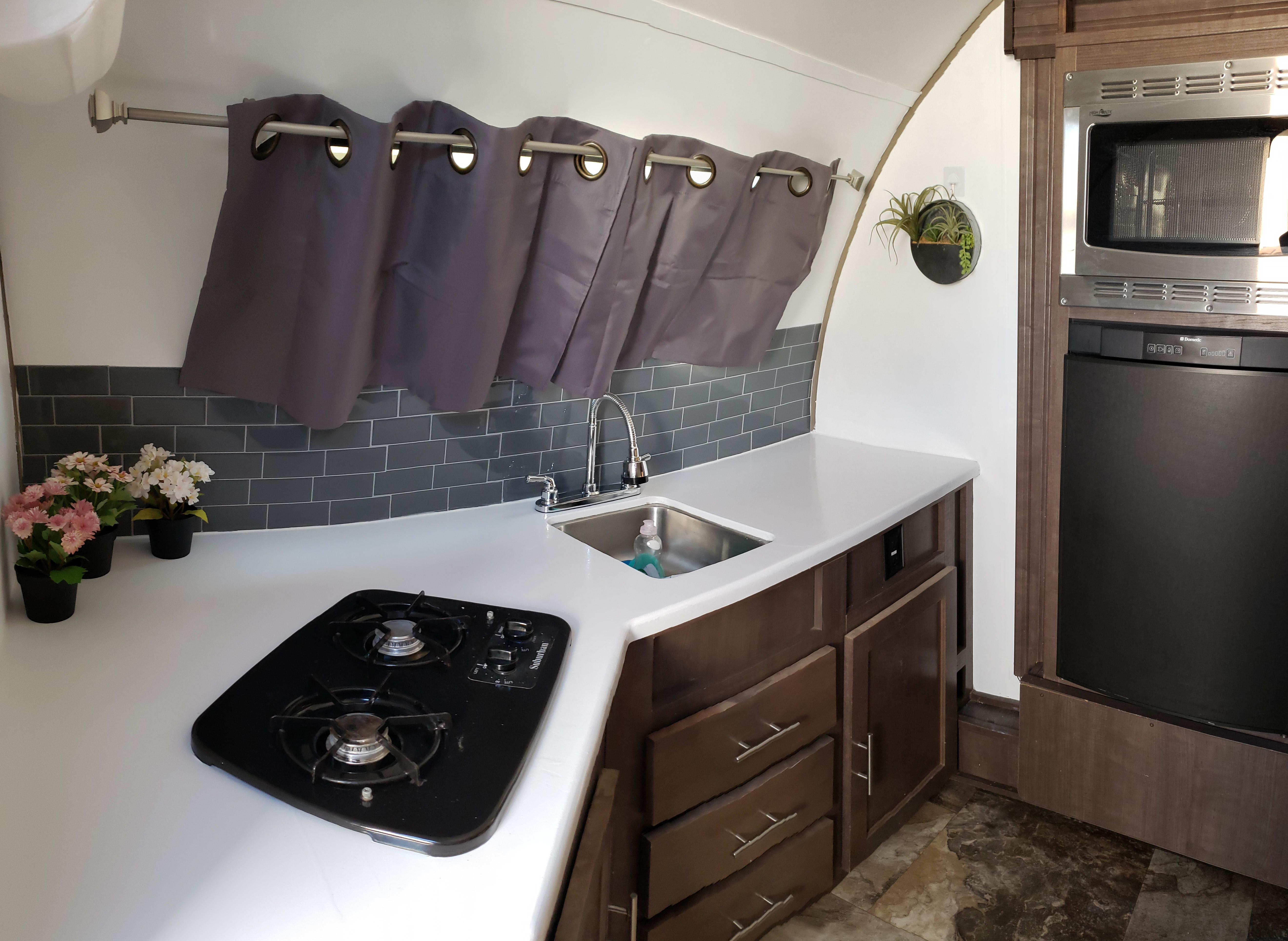Updated Kitchen. Forest River R-Pod 2016