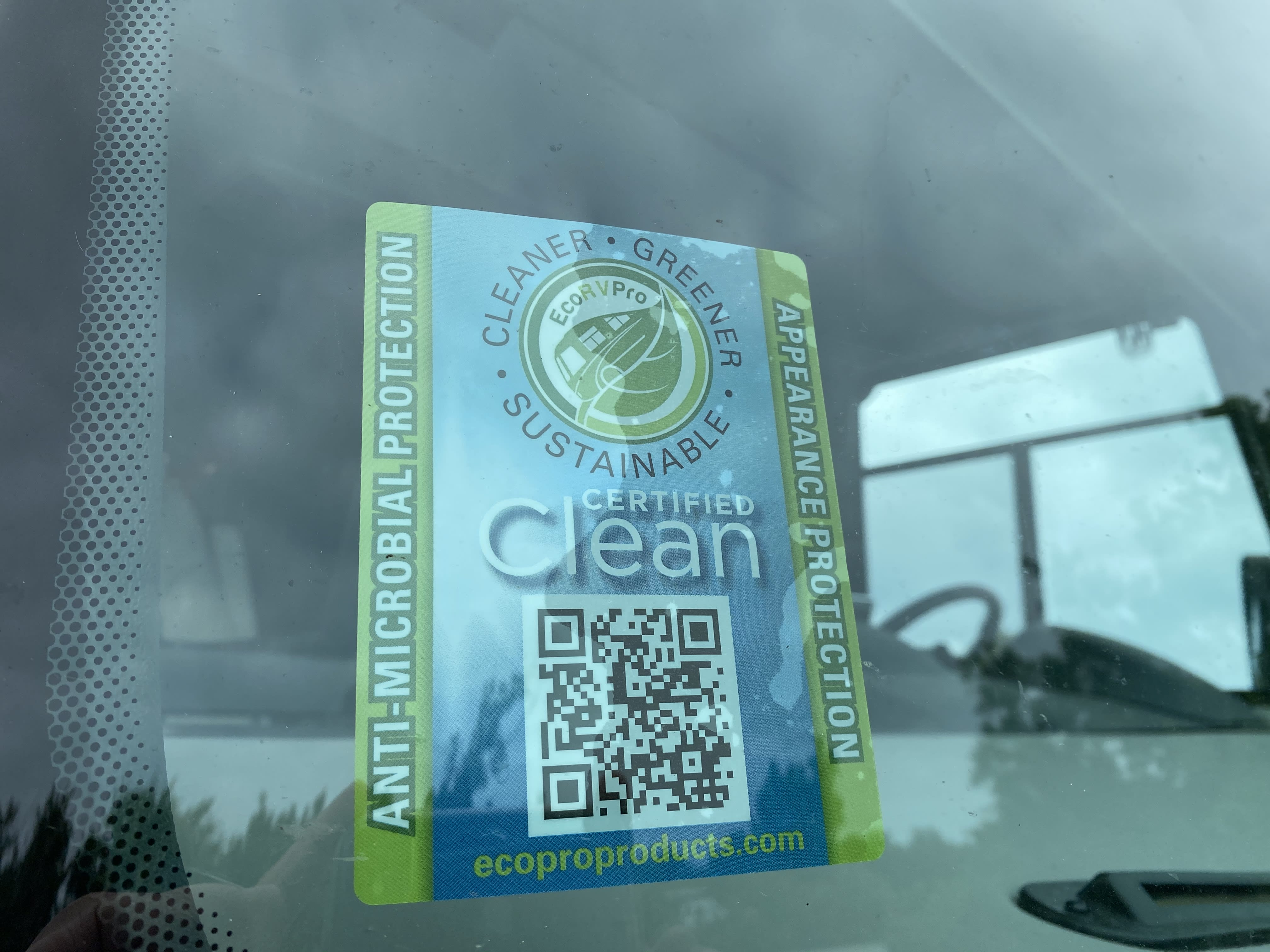 ECO RV Pro - Certified Clean, Anti-Microbial Protection. It is important protection during COVID-19. Coachmen Mirada 2021