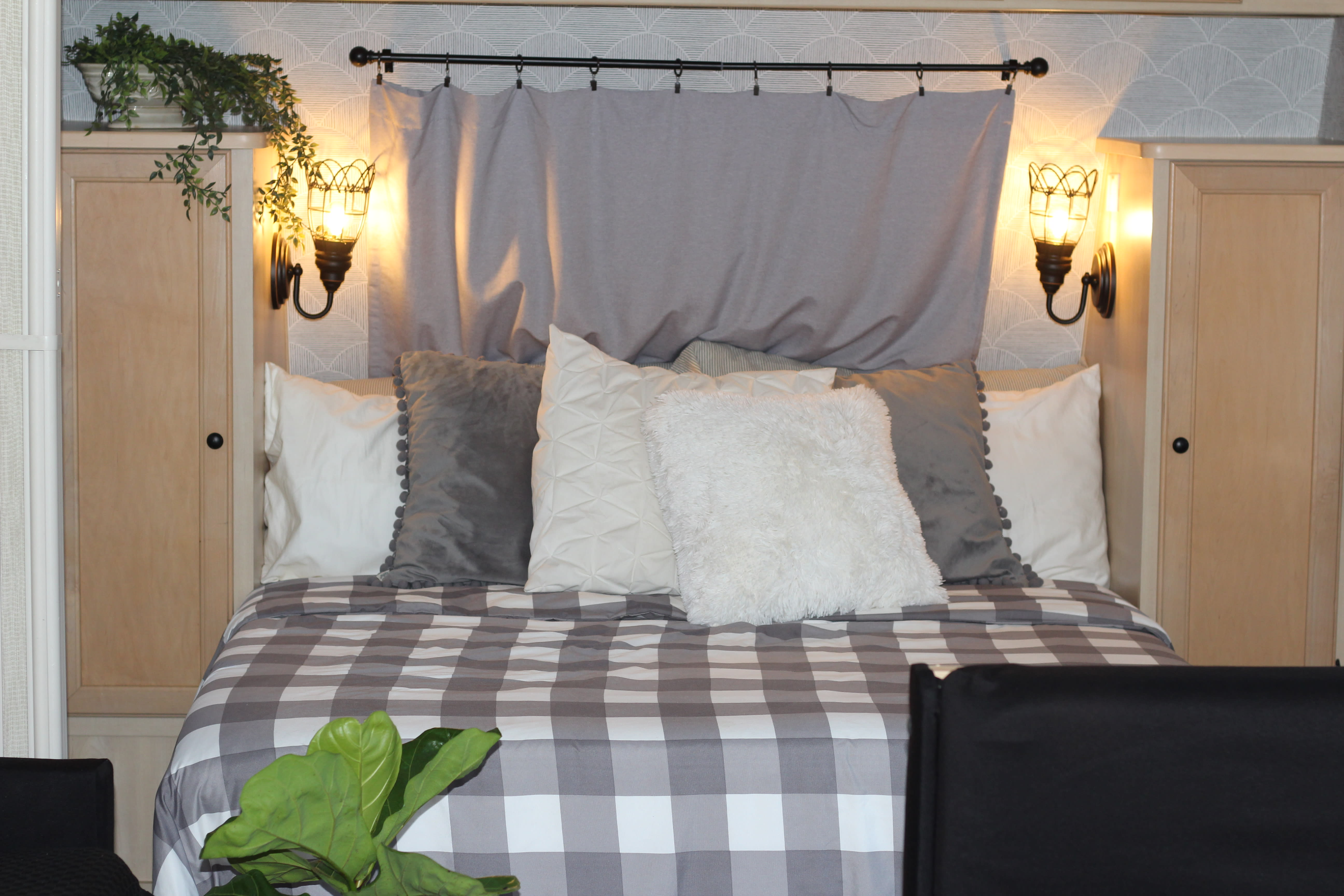 The master bedroom has a brand new mattress with a queen sized bed and lots of closet space and drawers. . Forest River Surveyor 2004