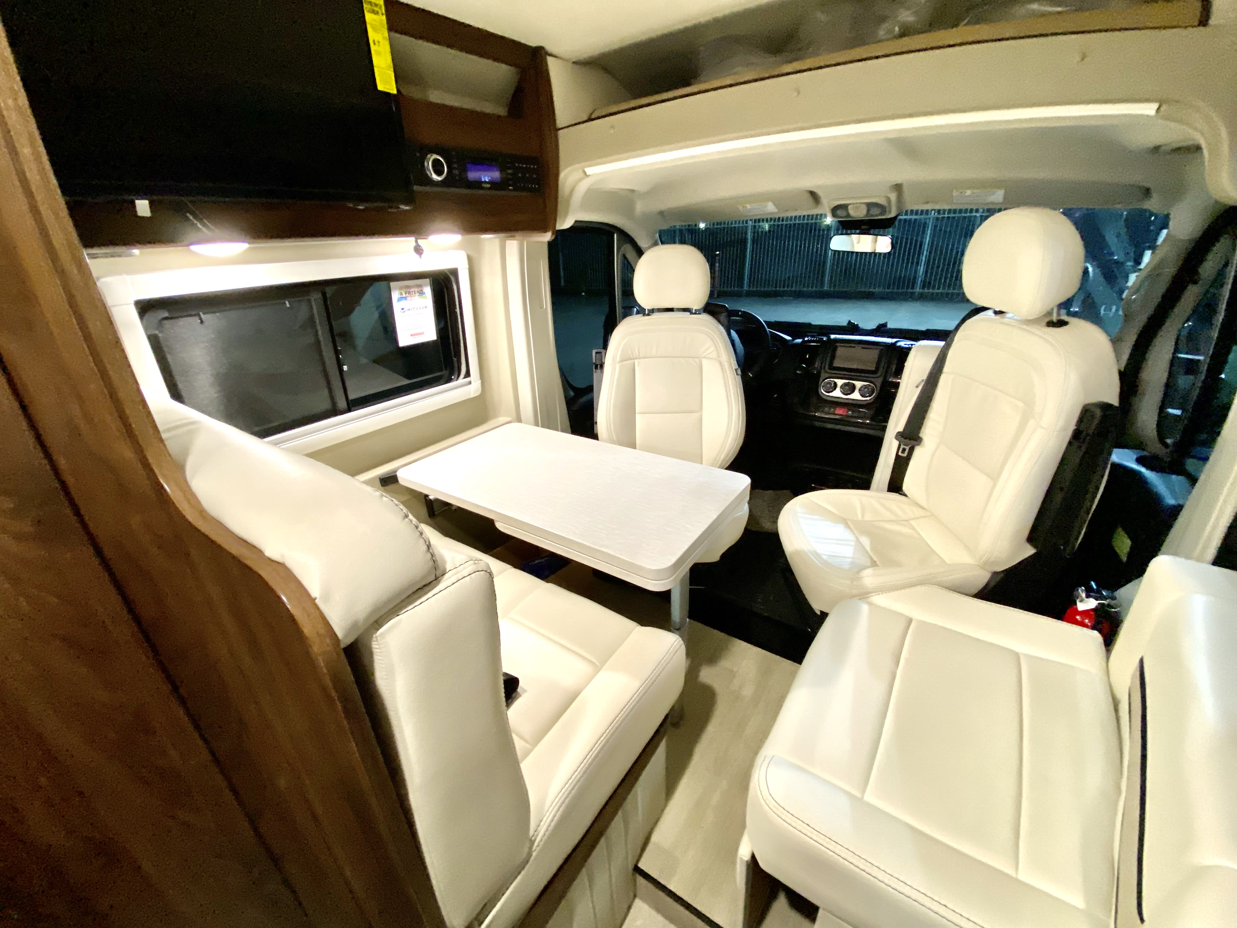 Quicksilver is really comfortable and practical.  The dinette area turns in to second sleeping space.. Winnebago Travato 2021