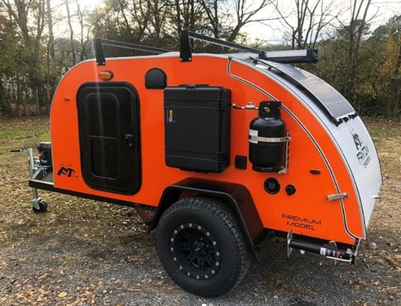 Pepper features a roof rack and exterior shower with  propane-powered hot water . Other Other 2021