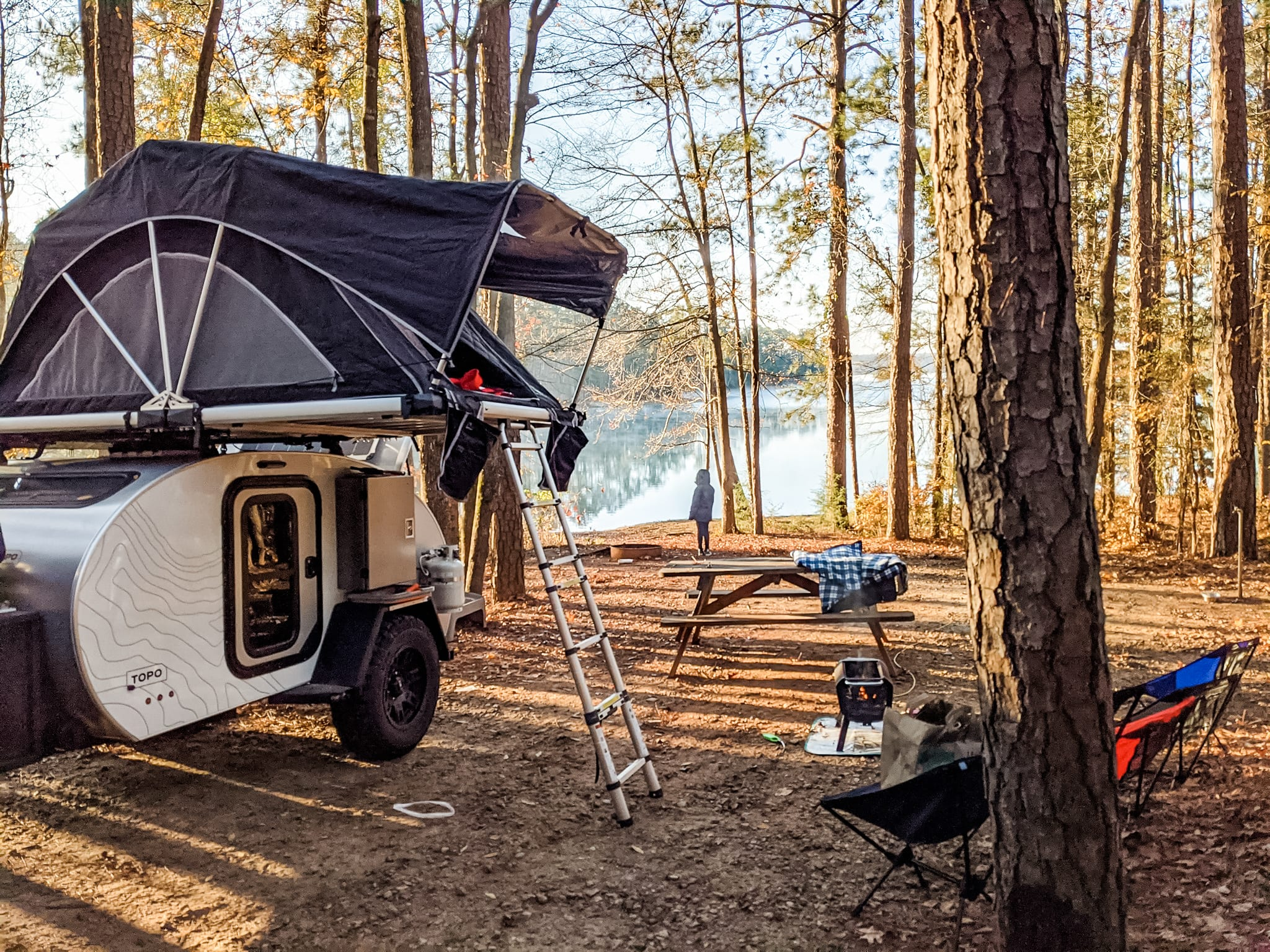 Rooftop tent is an additional $50/night. Escapod TOPO Series 2021