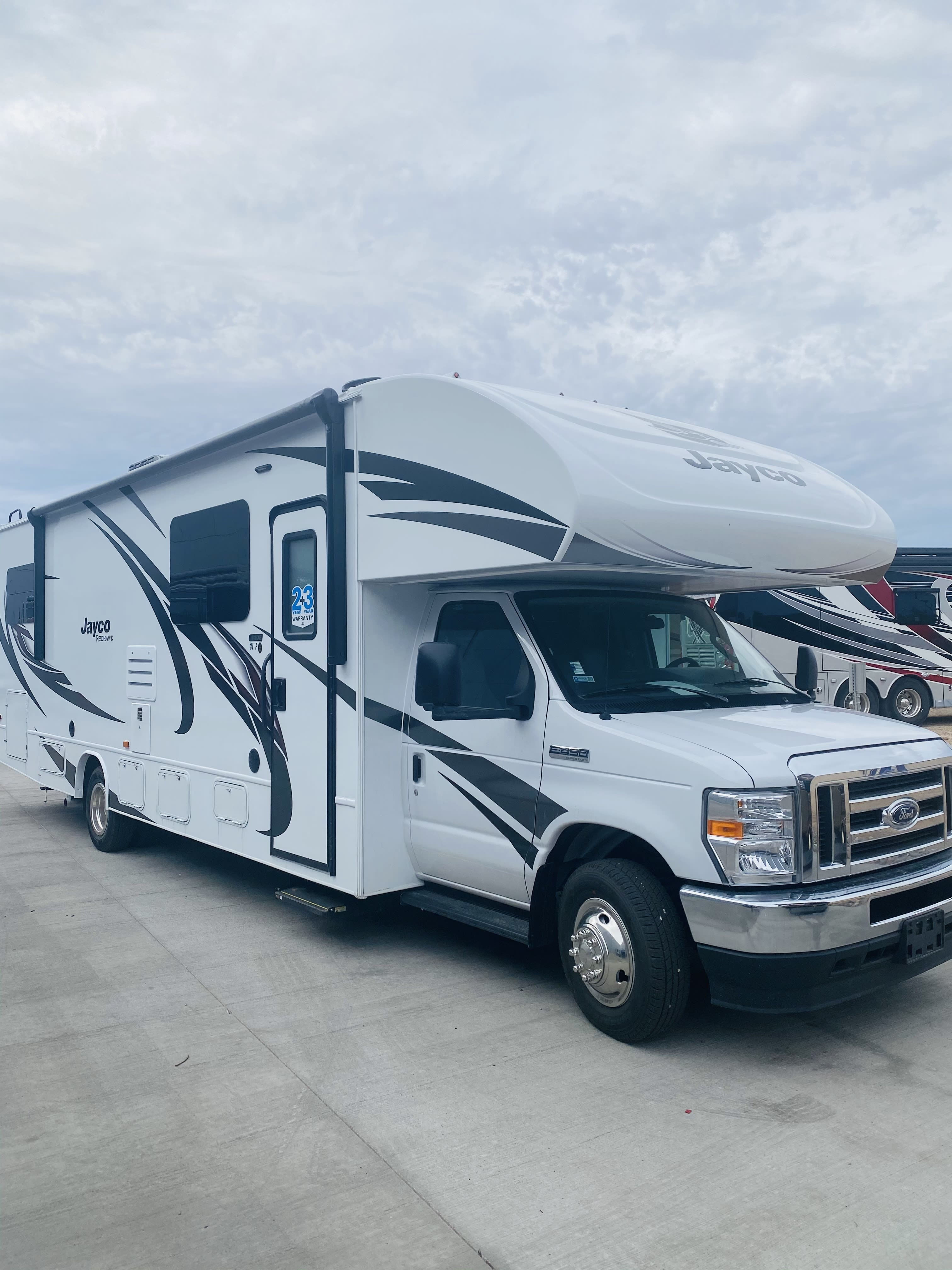Exterior of the coach. Jayco Redhawk 2021