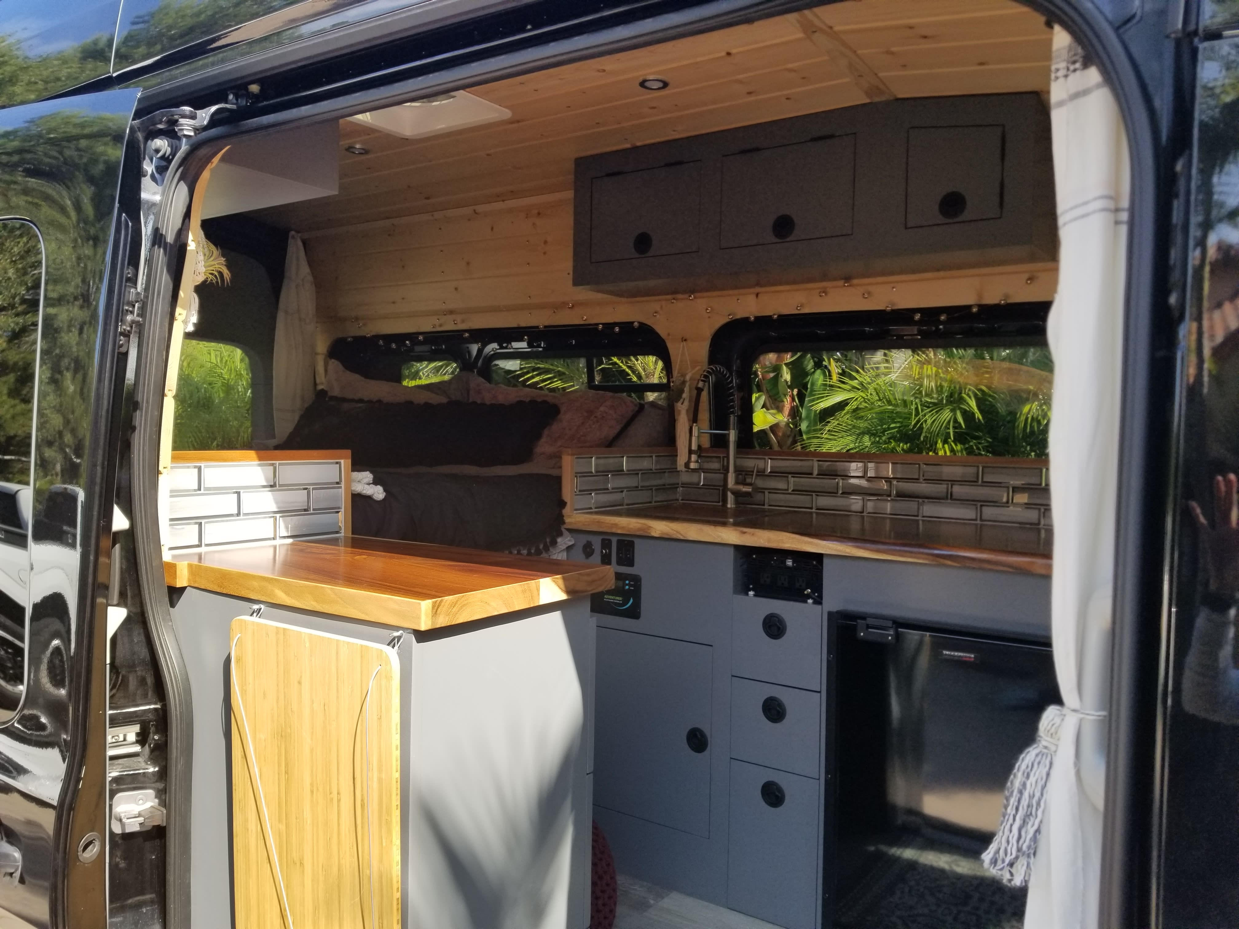 Lots of space for meal prep!. Ford Transit 2019