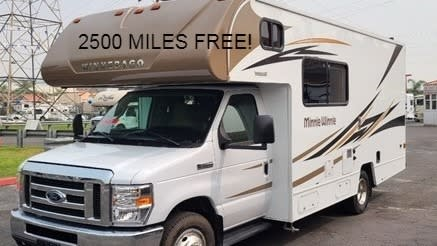 23FT - Just the right size for small family or first timers. Winnebago Minnie Winnie 2019