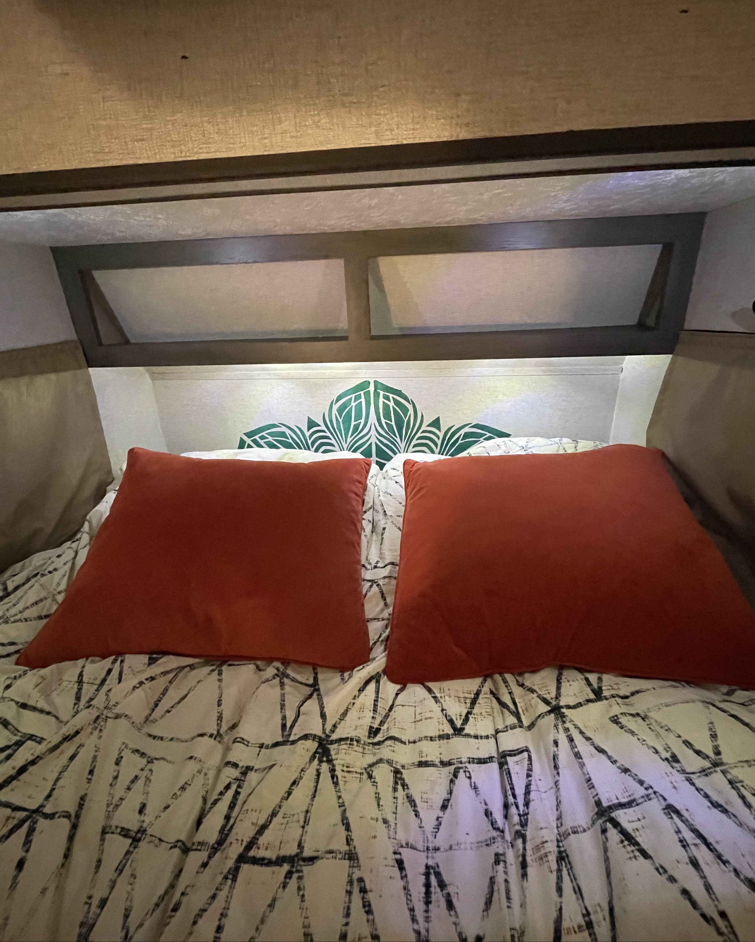 We provide you with bedding suited to your needs including: sheets, a cozy blanket, and pillows (if you don't want to bring your own... which you are certainly welcome to do). She also has lighting for days that runs off the included battery.. Coachmen Viking 2019