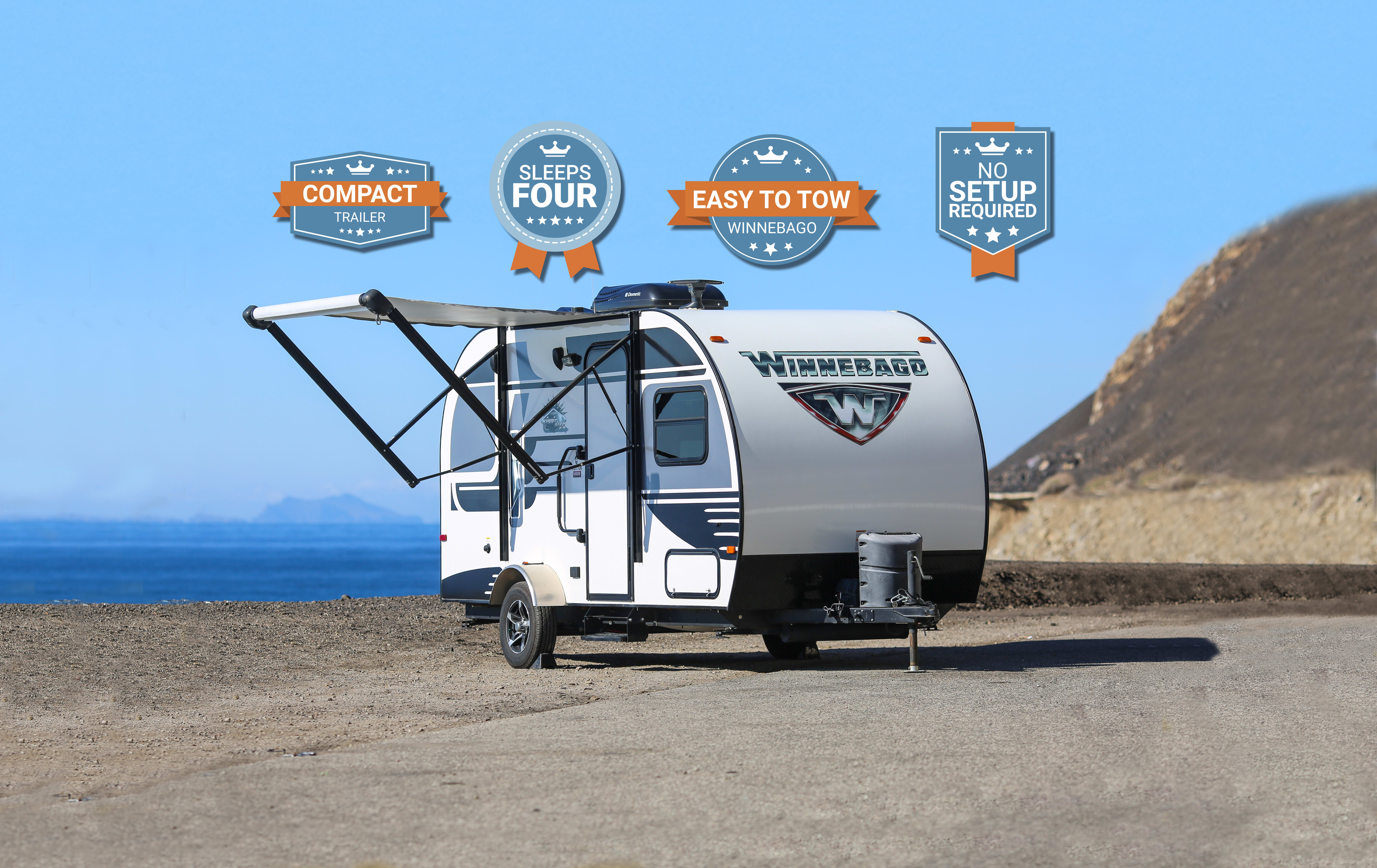 The lightweight Winnebago Winnie Drop 170k is easy to tow, full of features and can be pulled with any vehicle with a towing capacity of 3500 lbs.. Winnebago Winnie Drop 2017