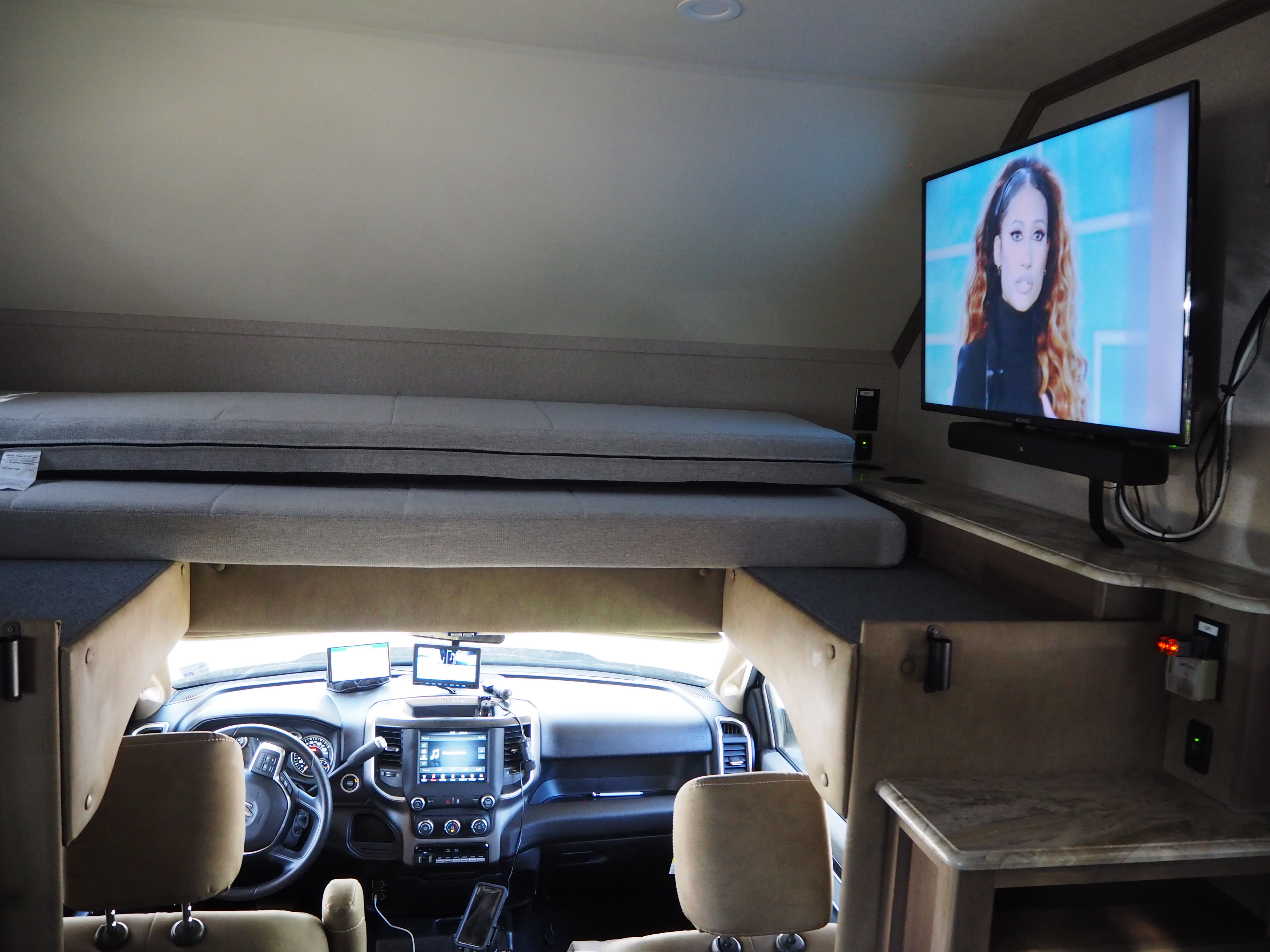 Note GPS and rear view camera. Dynamax Isata 5 2021