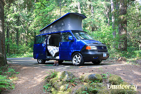 "0""Blue"" the VW Eurovan Westfalia in Corvallis  Corvallis, OR"