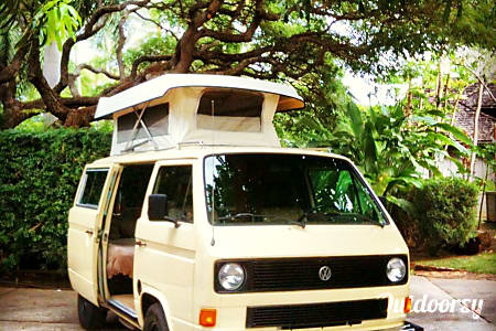 Hawaii Camper Van Hire! Meet CJ, your mobile base camp for surfing, hiking, sightseeing and just chilling out.  Honolulu, Hawaii