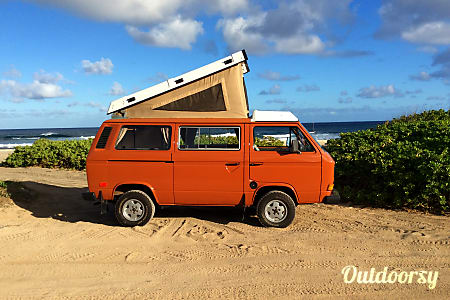 0Hawaii Camper Van Hire! Meet Orange Kine, your classic Volkswagen basecamp on wheels  Honolulu, HI