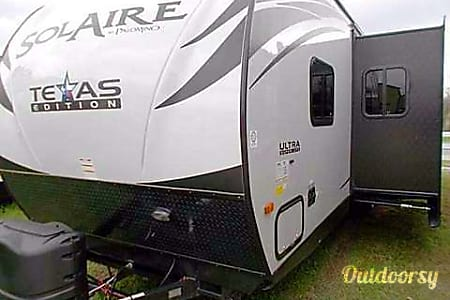 0Texas Edition! 2015 Palomino Solaire Ultra Lite - 1/2 ton towable - BUNKS/Spare room! SLEEPS 10  Sugar Land, TX
