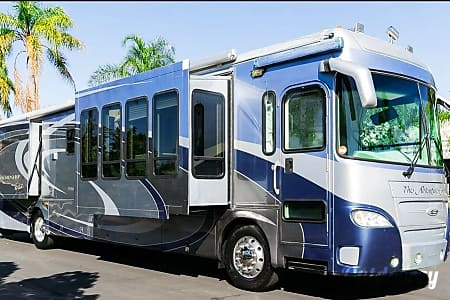0The Adventure Continues in this luxury coach. Well maintained inside and out this G7 has a modern and spacious design. Multiple windows and skylights in the main slide really help to open and brighten up the inside! High quality finish and fabrics.  Sloat Bl, CA