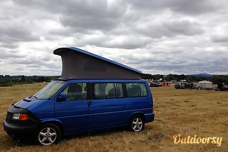 """""""Blue"""" the VW Eurovan Westfalia in Corvallis  Corvallis, OR"""