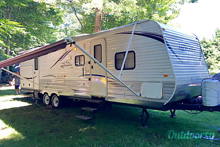 0Jayco Jay Flight 32' Bunkhouse Double Slide with Outdoor Kitchen  Holland, MI
