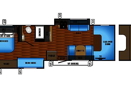 Jayco Class C RV w/bunkhouse16C  Alto, MI