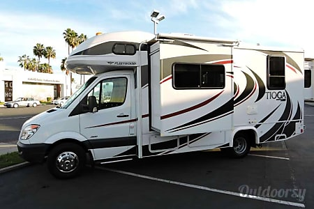 02013 Mercedes Sprinter Class C RV with private bedroom, cab bed, and small pull out sofa  Reno, NV