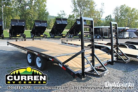 2016 Sure-Trac 8.5x20 (17' flat + 3' beavertail) 10k Equipment Trailer  Pine City, NY