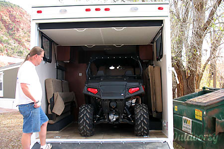 Adventure awaits! 2013 Toy Hauler, only 16 f.t long for hard to reach locations but custom made to fit a trail rated side by side ATV!  Silt, Colorado