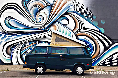 """The Green Vanalishi"" - 1984 Volkswagen Westfalia  Denver, Colorado"