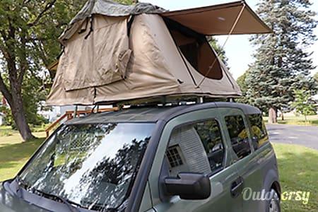 2005 Honda Element Roof Top Tent & Camp  Portland, Maine