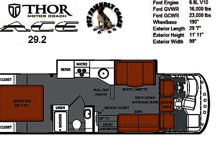 2014 Thor Motor Coach A.C.E  Navarre, Florida