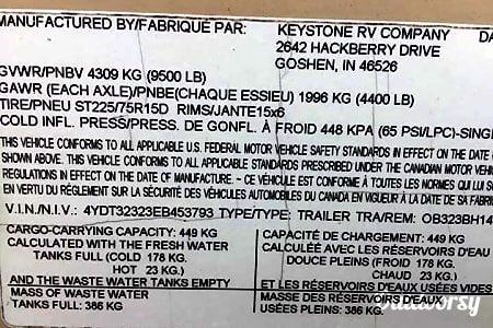 2014 Keystone Outback 323BH  Kaplan, LA