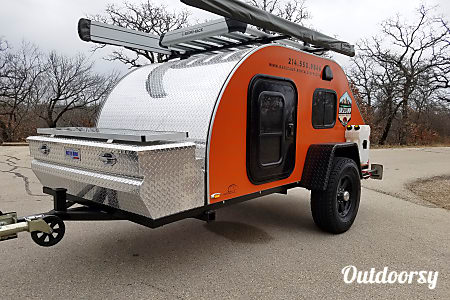 Orange 5x10 ORE Teardrop Trailer  Corinth, TX