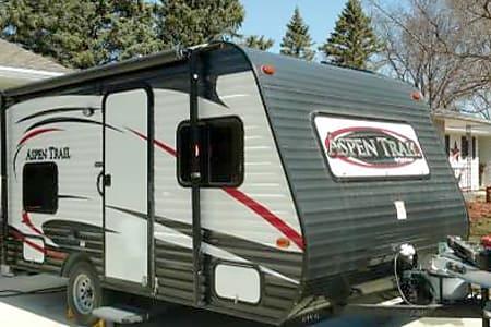 *NEW 2015 Dutchmen Aspen Trail Camper light weight RV travel trailer  kitchen bathroom shower bunks Northern Minnesota Breezy Point