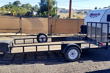 14ft Flatbed Utility Trailer