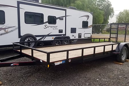 22ft Flatbed Utility Trailer