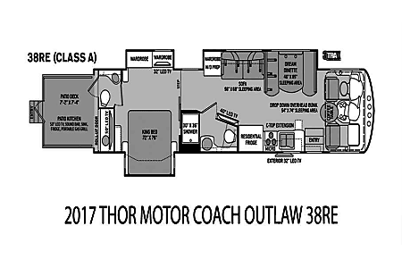 2017 Thor Outlaw 38RE  Seffner, FL