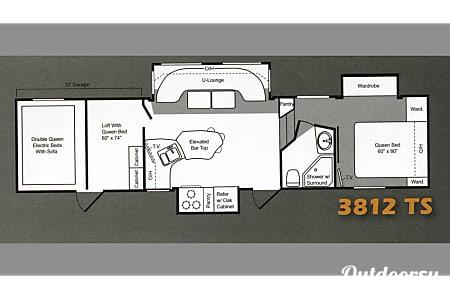Keystone Raptor  3812TS Toy Hauler - Sleeps 10  Leawood, KS