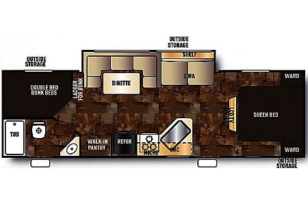 2017 Grey Wolf 26DBH Bunk House sleeps 8 - Delivery Available!  Franklin, Tennessee