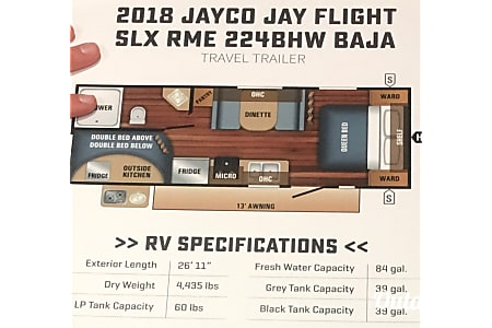 02018 Jayco Baja Pulls light but sleeps 7  Rigby, ID