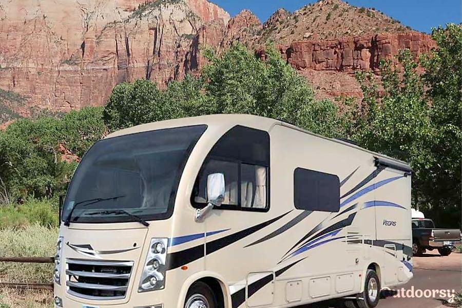 "exterior 2018 Thor Motor Coach Vegas aka ""TRPL 777"" Las Vegas, NV"