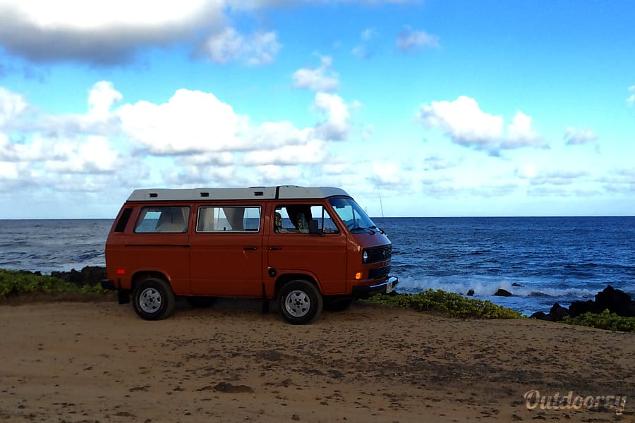 Hawaii Camper Van Hire! Meet Orange Kine, your classic Volkswagen basecamp on wheels Honolulu, HI