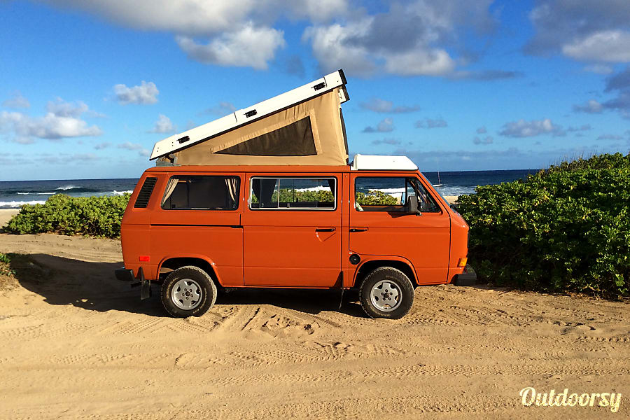 f4b5afbf51 Classic VW Camper Van for Hire! Your Hawaii Basecamp on Wheels! Honolulu
